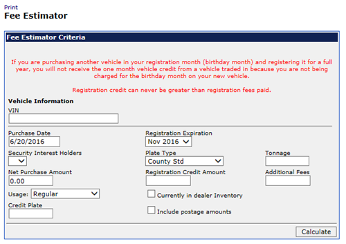 calculate your transfer fee credit iowa tax and tags
